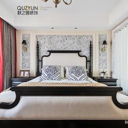现代美式卧室背景墙设计