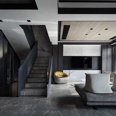 現代別墅客廳樓梯設計