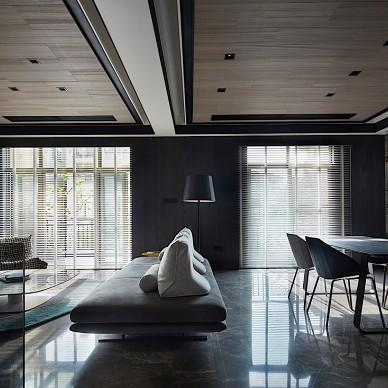 現代別墅客餐廳連接設計