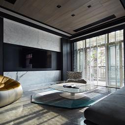 现代别墅客厅电视背景墙设计