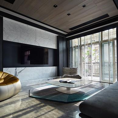 現代別墅客廳電視背景墻設計