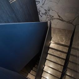现代别墅楼梯转角设计