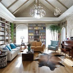 美式别墅客厅背景墙设计