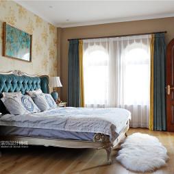 美式别墅卧室背景墙设计