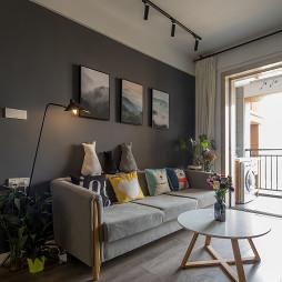 混搭客厅沙发背景墙设计