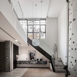 别墅样板房娱乐室楼梯设计