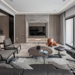 现代别墅电视墙实景设计