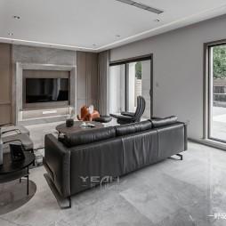 现代别墅客厅实景设计