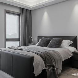 现代别墅卧室实景设计