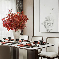中式样板房餐厅设计