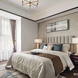 中式样板房卧室背景墙设计