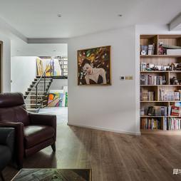 LOFT别墅客厅书柜设计