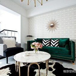 现代二居沙发墙实景设计