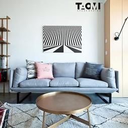 现代北欧风沙发背景墙设计实景