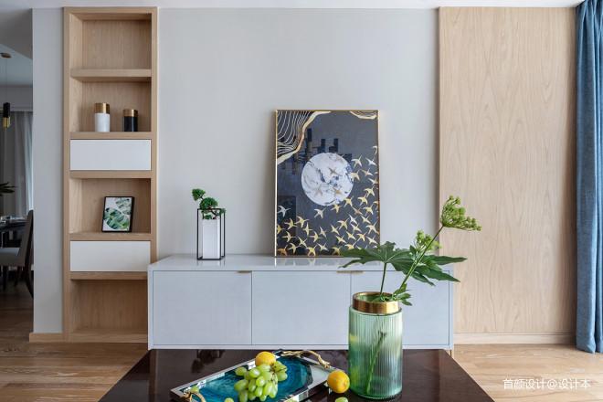 北欧客厅壁柜设计