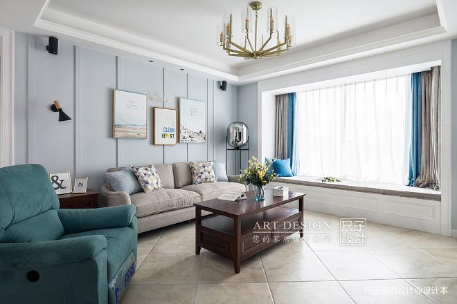 美式客厅飘窗设计欣赏
