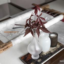 融创藏马山别墅样板间混搭风书房书桌设计图