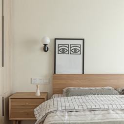 简约风格豪宅设计卧室床头柜设计图