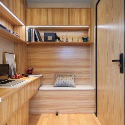 中式风57㎡复式豆荚户型变身六室两厅书房写字台设计图