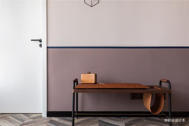 北欧风格复式玄关坐椅设计图