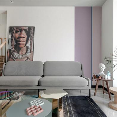 北欧风格复式客厅装修设计图