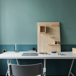北欧风格复式书房书桌设计图