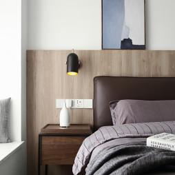 素净而优雅,现代中性风格三居床头设计图