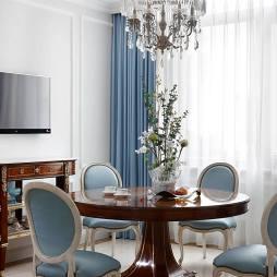 清梦满屋美式风别墅设计餐厅设计图