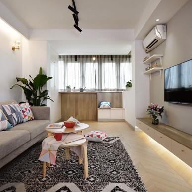 上海虹井苑北欧风格小户型客厅设计美图