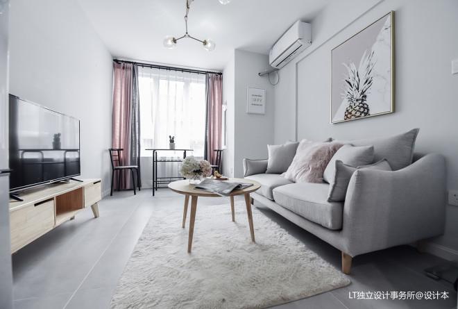 新一城北欧风格二居客厅设计图