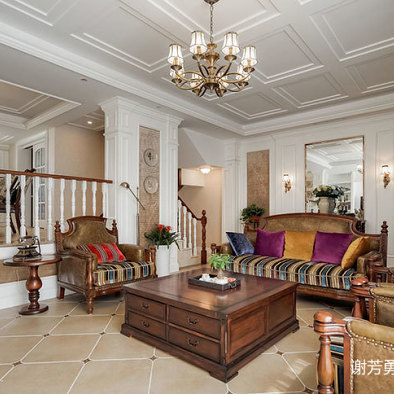 美式风别墅设计客厅设计图