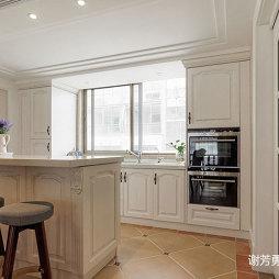 美式风别墅设计开放厨房设计图