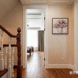 美式风别墅设计楼梯口设计图