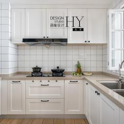 北欧风三居U型厨房设计图