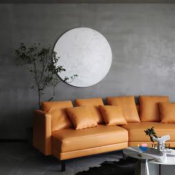 工业风复式客厅墙画设计图