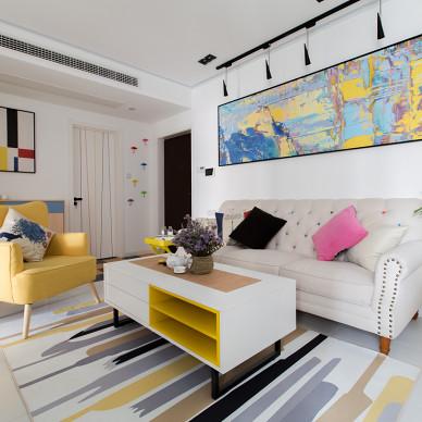 小清新混搭风格客厅设计美图