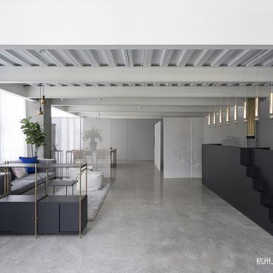 美绵家居办公空间混搭风一楼前厅装饰设计图