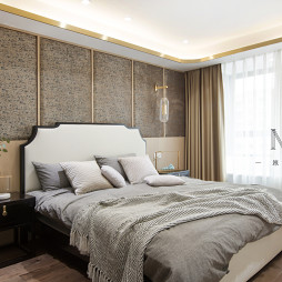银杏调中式卧室图