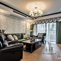 最新美式客厅设计实景图