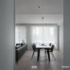 黑白现代三居餐厅图
