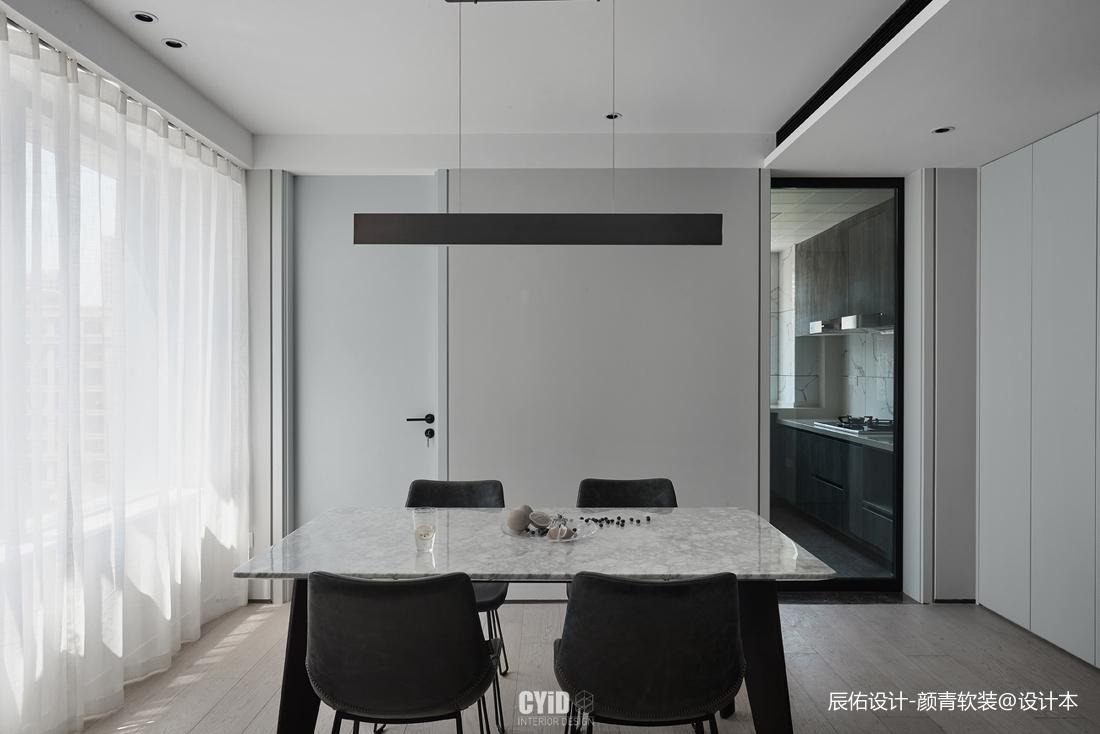 黑白现代三居餐厅设计图