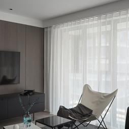 黑白现代三居客厅装修设计图