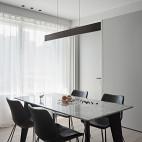 黑白现代三居餐厅实景图