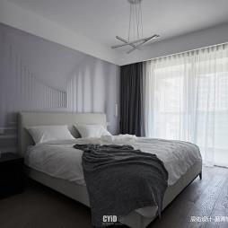 黑白现代三居卧室设计图