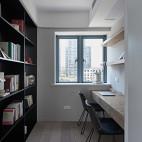 黑白现代三居书房图