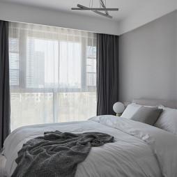 黑白现代卧室图