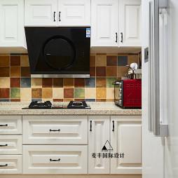花色美式三居厨房设计图
