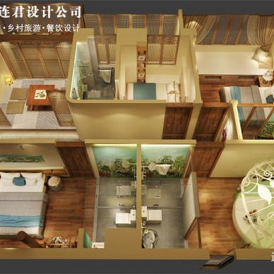 广州天河广利民宿设计方案,隐藏在繁华商圈的特色民宿_3355726