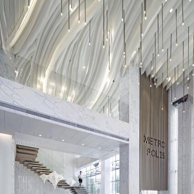新现代主义销售展示中心吊顶设计图