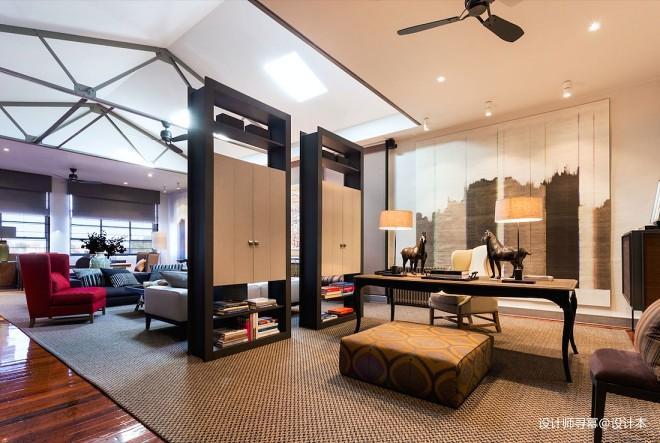 阁楼低语loft小户型书房装修设计图